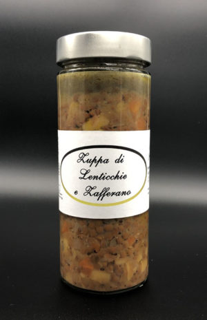 Zuppa lenticchie e zafferano